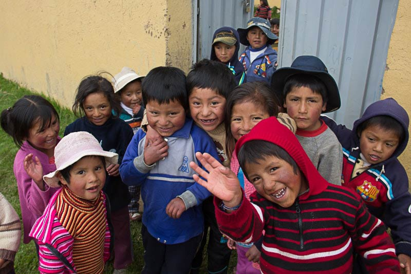 School Children in Sacred Valley, Peru