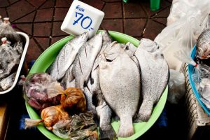 Salted fish for sale in Thailand
