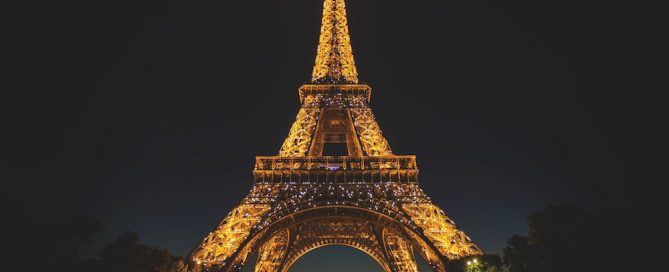 Photo of Eiffel Tower at night