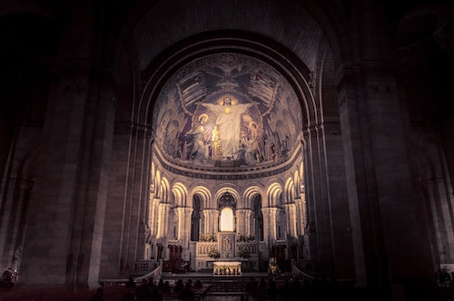 Interior of Sacre Coeur, Paris, France