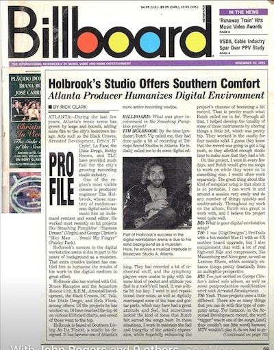 Tim Holbrook on the cover of Billboard Magazine width=