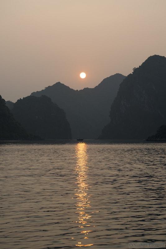 Sunrise near Ben Beo Harbor